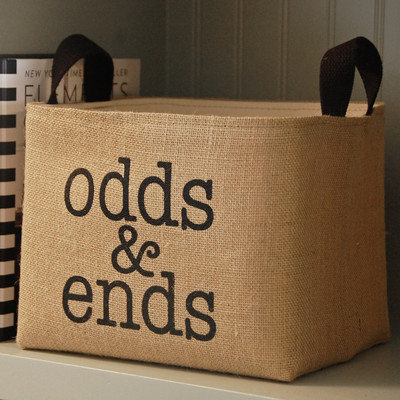 Asouthernbucket Odds and Ends Burlap Storage Bin