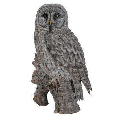Hi-line Gift Ltd. Owl on Stump Statue