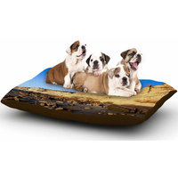 East Urban Home Nick Nareshni 'Beach Cliffside Rocks' Dog Pillow with Fleece Cozy Top