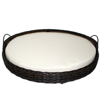 Iconic Pet Rattan Round Dog Sofa Size: Small (24