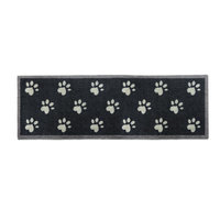 Howler & Scratch 59-Inch x 20-Inch Washable Big Paw Prints Dog Runner in Navy Blue