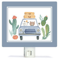 Oopsy Daisy Non-Personalized Best Friends on the Road Canvas Night Light