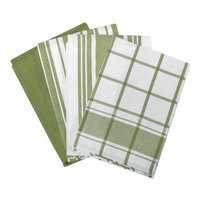 All Clad All-Clad Sage Set of 4 Woven Kitchen Towels
