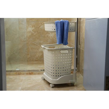 Rebrilliant 2 Tier Plastic Laundry Hamper with Wheels