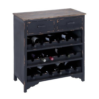 August Grove Lorimier 18 Bottle Floor Wine Rack