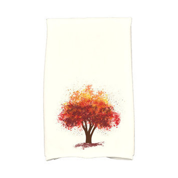 Loon Peak Flipping for Fall Bounty Hand Towel Color: Brown