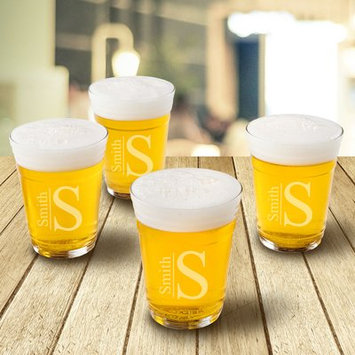 Jds Personalized Gifts Personalized 16 oz. Glass Beer Glass Design: Modern
