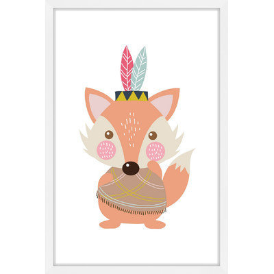 Marmont Hill Inc Marmont Hill - 'Hipster Fox' by Shayna Pitch Framed Painting Print