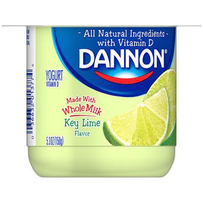 Brand Dannon® Blended Whole Milk Yogurt Key Lime 5.3oz Single Serve