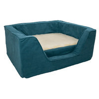 Snoozer Luxury Square Dog Bed with Memory Foam Marine