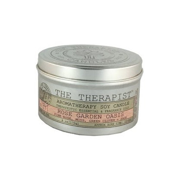 The Therapist Candles No. 07 Rose Garden Oasis Soy Scent Jar Candle