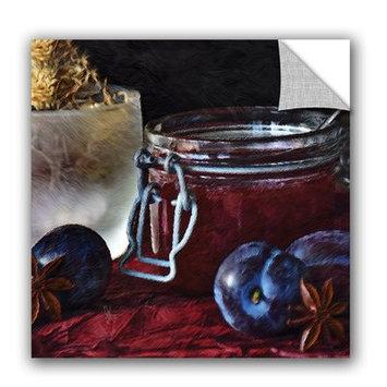 Artwall Scott Medwetz Homemade Blueberry Jam Wall Decal Size: 24