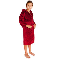 Bare Cotton 100-percent Turkish Cotton Kid's Hooded Terry/ Velour Bathrobe