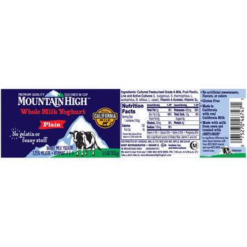 Mountain High™ Plain Whole Milk Yoghurt 5.5 oz. Cup