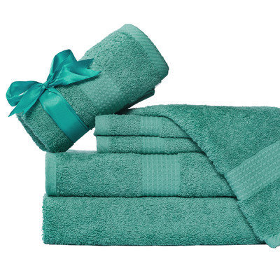 Aspire Linens Supersoft 6 Piece Towel Set Color: Aqua Blue