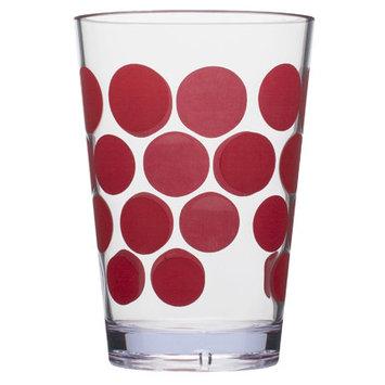 Ivy Bronx Meleri 7 oz Juice Glass Color: Red / Clear