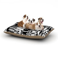 East Urban Home Gabriela Fuente 'Tropical Buzz' Dog Pillow with Fleece Cozy Top Size: Small (40