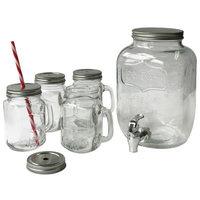 Wee's Beyond Mason 5 Piece Jar Beverage Dispenser Set
