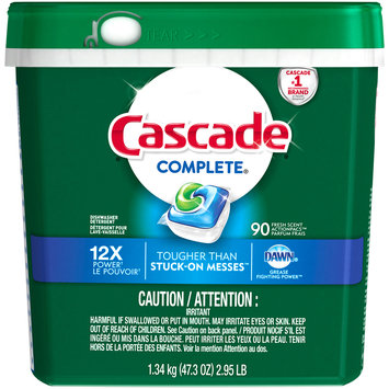 Cascade® Complete® Dawn® Fresh Scent Action Pacs™ Dishwasher Detergent 90 ct Plastic Container