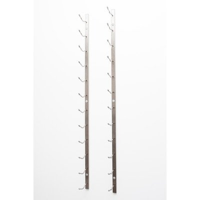 Vintageview Wall Series 30 Bottle Wall Mounted Wine Bottle Rack Finish: Brushed Nickel