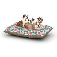 East Urban Home Emma Frances 'Vintage Brights' Dog Pillow with Fleece Cozy Top Size: Small (40