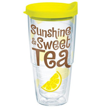 Tervis Tumbler Company Tervis Sunshine Sweet Tea Wrap Bottle with Yellow Lid, 24-Ounce, Beverage