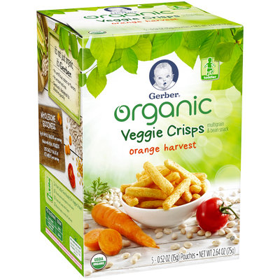 Gerber® Organic Veggie Crisps | Orange Harvest