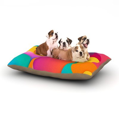 East Urban Home Danny Ivan 'Still Life' Warm Abstract Dog Pillow with Fleece Cozy Top Size: Large (50
