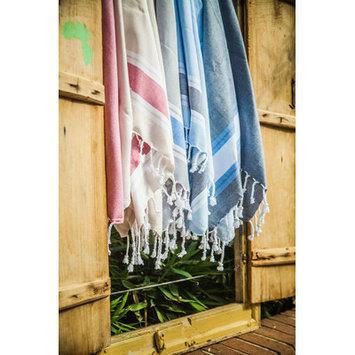 Antiochia Myndos Hand Towel Color: Coral/Navy