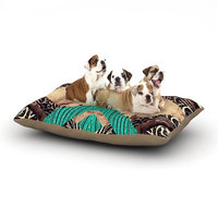 East Urban Home Alveron 'Teal Woven Paisley' Dog Pillow with Fleece Cozy Top Size: Large (50
