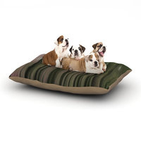 East Urban Home Alison Coxon 'Forest Blur' Dog Pillow with Fleece Cozy Top Size: Large (50