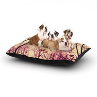 East Urban Home Ingrid Beddoes 'My Secret Garden' Dog Pillow with Fleece Cozy Top Size: Large (50