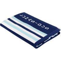 Lunasidus Luxury Stripe Beach Towel Color: Navy Blue - Light Blue