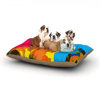 East Urban Home Matthias Hennig 'Colored Plastic' Dog Pillow with Fleece Cozy Top Size: Large (50