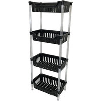 Wee's Beyond 4 Tier Storage Basket Color: Black