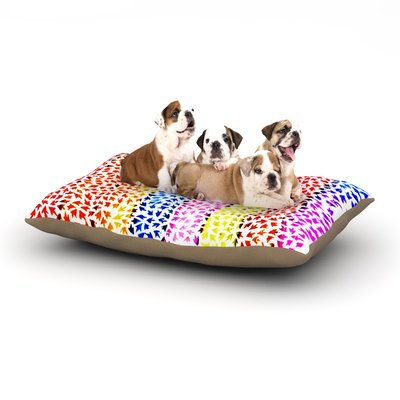 East Urban Home Sreetama Ray 'Rainbow Arrows' Dog Pillow with Fleece Cozy Top Size: Small (40
