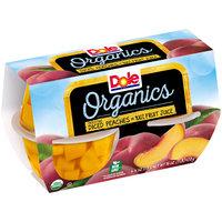 Dole® Organics Freestone Diced Peaches in 100% Fruit Juice 4-4 oz. Cups