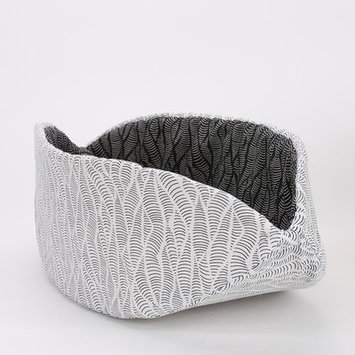 Thecatball Modern Abstract Black and White Cat Bed
