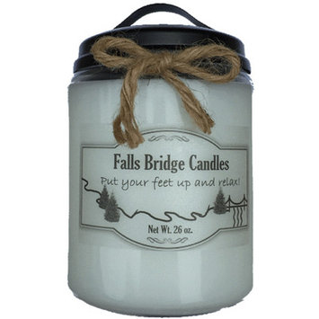 Fallsbridgecandles Vanilla Musk Scented Jar Candle Size: 6.5