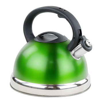 Imperial Home 3-qt. Stainless Steel Whistling Tea Kettle Color: Green
