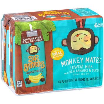 Sir Bananas® Monkey Mates™ Chocolate & Real Bananas Lowfat Milk 6-8 fl. oz. Aseptic Packs