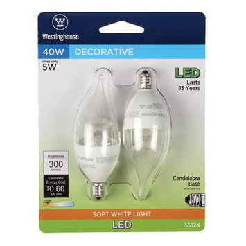 Westinghouse 5W E12 Candelabra Base LED Light Bulb