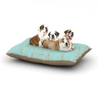 East Urban Home Emma Frances 'Falling Florals' Dog Pillow with Fleece Cozy Top Size: Small (40