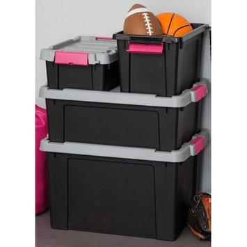 Iris Store-It-All Plastic Storage Tote Color: Pink