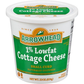 Arrowhead® 1% Lowfat Small Curd Cottage Cheese 22 oz. Plastic Tub