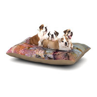 East Urban Home Iris Lehnhardt 'Floating Colors' Dog Pillow with Fleece Cozy Top Size: Small (40