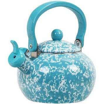 Reston Lloyd Calypso Basics Marble Whistling Teakettle, 2 quart, Turquoise