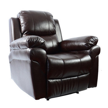 Newacme Llc MCombo Vibrating Swivel Reclining Massage Chair with Heated Lounge Upholstery: Brown
