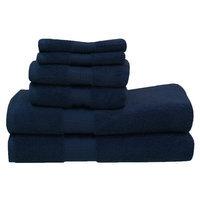 Rockford International Lexington 6 Piece Towel Set Color: Dark Blue