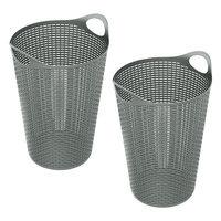 Rebrilliant 70 Liter Flex Wicker Laundry Hamper Color: Gray
